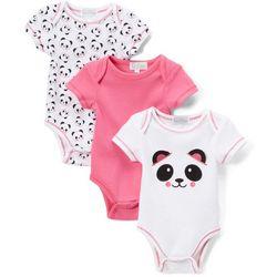 Quiltex Baby Girls 3-pk. Panda Bodysuits