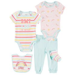 Quiltex Baby Girls 5-pc. Daddy Makes Me Smile Layette Set