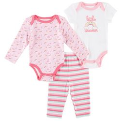Quiltex Baby Girls 3-pc. Little Dreamer Layette Set