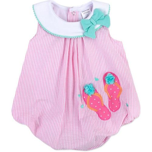 86245b4f9076 Sunshine Baby Baby Girls Stripe Sandals Bubble Romper