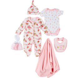 Laura Ashley Baby Girls 9-pc. Camellia Layette Set