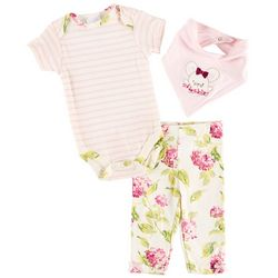Laura Ashley Baby Girls 3-pc. Little Mouse Layette Set