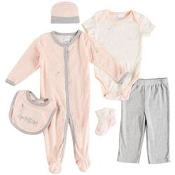 Little Beginnings Baby Girls 6-pc. Sparkling New Layette Set