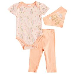 Laura Ashley Baby Girls 3-pc. Happy Air Balloon Layette Set
