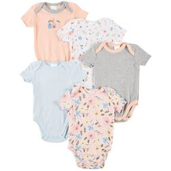 Laura Ashley Baby Girls 5-pk. Little Houses Bodysuits