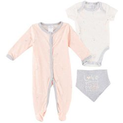Little Beginnings Baby Girls 3-pc. To the Moon Layette Set