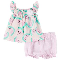 Little Beginnings Baby Girls Watermelon Shorts Set