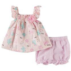 Little Beginnings Baby Girls Flamingo Shorts Set