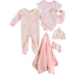 Laura Ashley Baby Girls 9-pc. Floral Animal Layette Set