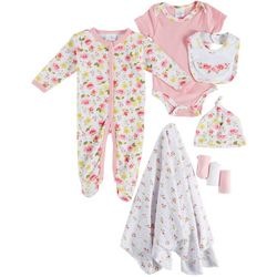 Laura Ashley Baby Girls 9-pc. Floral Layette Set