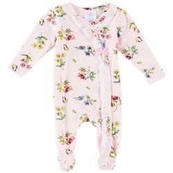 Laura Ashley Baby Girls Floral Eyelet Trim Coverall