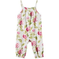 Laura Ashley Baby Girls Hydrangea Print Sleeveless Romper