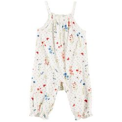 Laura Ashley Baby Girls Wildflower Sleeveless Romper