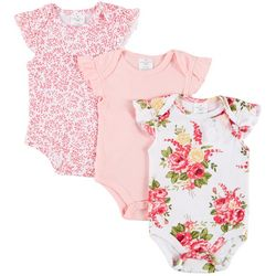 Laura Ashley Baby Girls 3-pk. Floral Ruffle Sleeve