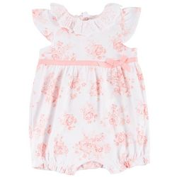 Laura Ashley Baby Girls Botanic Floral Bow Romper