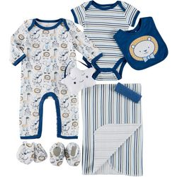 Mini Muffin Baby Boys 9-pc. Animals Deluxe Layette Set