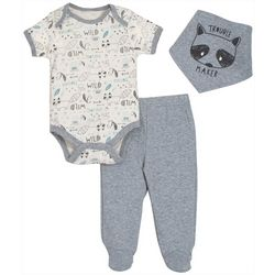 Chick Pea Baby Boys 3-pc. Trouble Maker Footie Pants Set