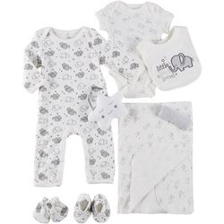 Mini Muffin Baby Unisex 9-pc. Elephant Deluxe Layette Set