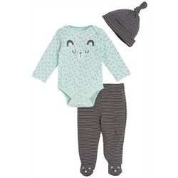 Chick Pea Baby Boys 3-pc. Long Sleeve Bear Footie Pants Set