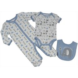 Chick Pea Baby Boys 3-pc. Love To Laugh Clothing Set