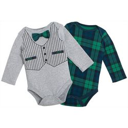 Chick Pea Baby Boys 2-pk. Graphic Vest Bodysuit Set