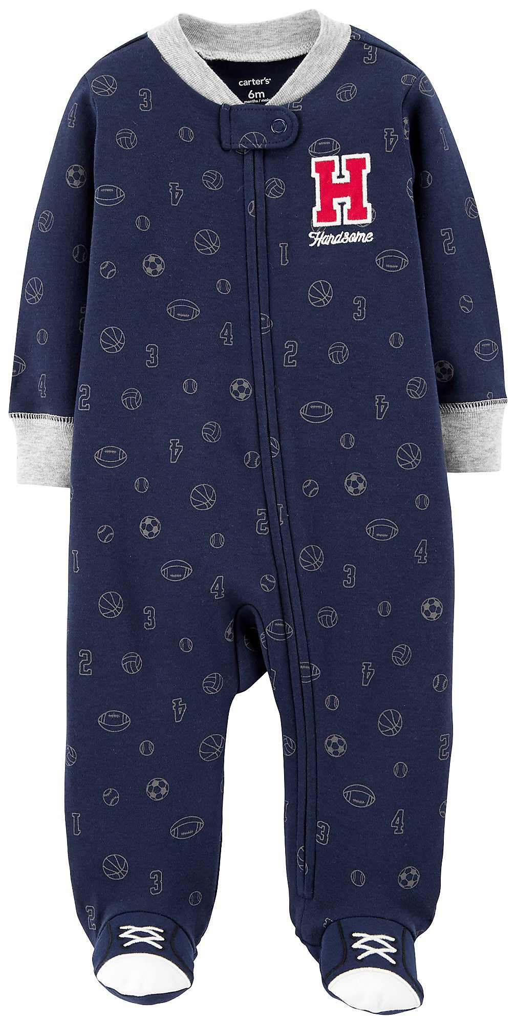 Carters Baby Boys Handsome Sleep Play Newborn Navy Blue Grey Red