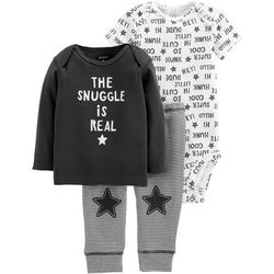 Carters Baby Boys 3-pc. The Snuggle Is Real Bodysuit Set