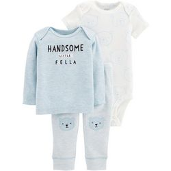Carters Baby Boys 3-pc. Handsome Little Fella Layette Set