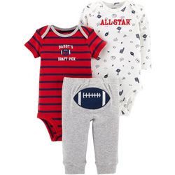 Carters Baby Boys 3-pc. Daddy's Draft Pick Layette Set