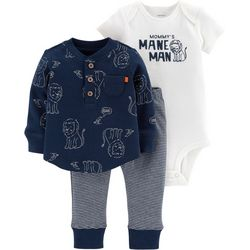 Carters Baby Boys 3-pc. Mommy's Mane Man Layette Set