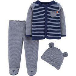Carters Baby Boys 3-pc. Striped Baby Bear Layette Set
