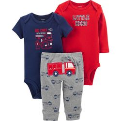 Carters Baby Boys 3-pc. Little Hero Fire Truck Layette Set