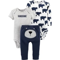Carters Baby Boys 3-pc. Handsome Bear Layette Set
