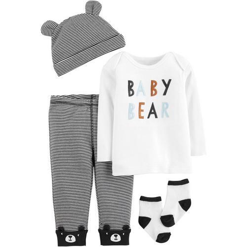 e38139cd2 Carters Baby Boys 4-pc. Baby Bear Layette Set