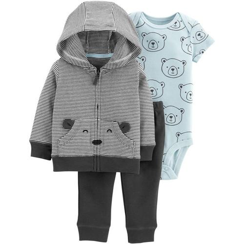 8e84d572f Carters Baby Boys 3-pc. Bear Jacket Clothing Set
