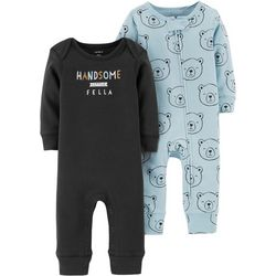 Carters Baby Boys 2-pk. Handsome Fella Jumpsuits