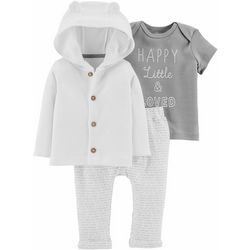 Carters Baby Boys 3-pc. Little & Loved Cardigan Clothing Set