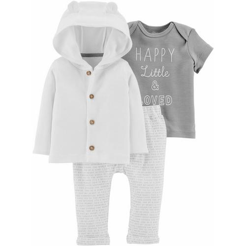f85400f80db Carters Baby Boys 3-pc. Little   Loved Cardigan Clothing Set ...