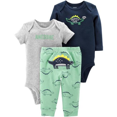 5a1f628e4e10 Carters Baby Boys 3-pc. Mighty Cute Dino Layette Set