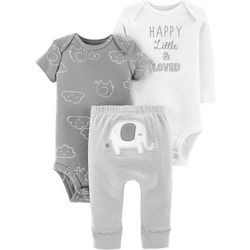 Carters Baby Boys 3-pc. Little & Loved Layette Set