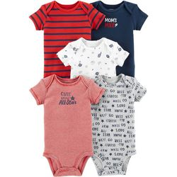 Carters Baby Boys 5-pk. Cute Little All-Star Bodysuits