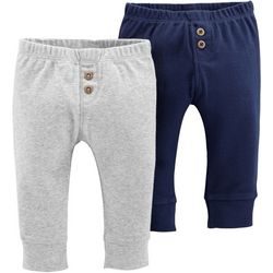 Carters Baby Boys 2-pk. Solid Banded Pull-On Pants