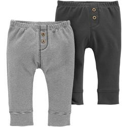 Carters Baby Boys 2-pk. Solid & Stripe Pull-On Pants