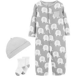Carters Baby Unisex 3-pc. Elephant Layette Set
