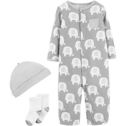 7ba6bc9e4692 Carters Baby Unisex 3-pc. Elephant Layette Set | Bealls Florida
