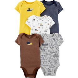 Carters Baby Boys 5-pk. Construction Truck Bodysuits