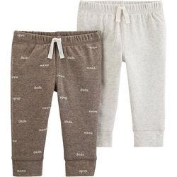 Carters Baby Boys 2-pk. Mama Dada Heathered Pull-On Pants