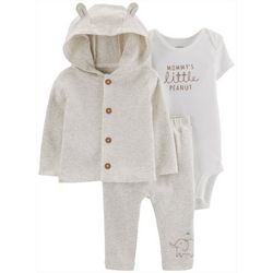 Carters Baby Boys 3-pc. Little Peanut Cardigan Layette Set