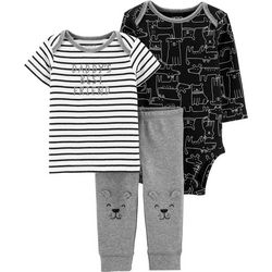 Carters Baby Boys 3-pc. Daddy's Best Friend Dog Clothing Set