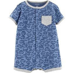 Carters Baby Boys Car Pocket Romper